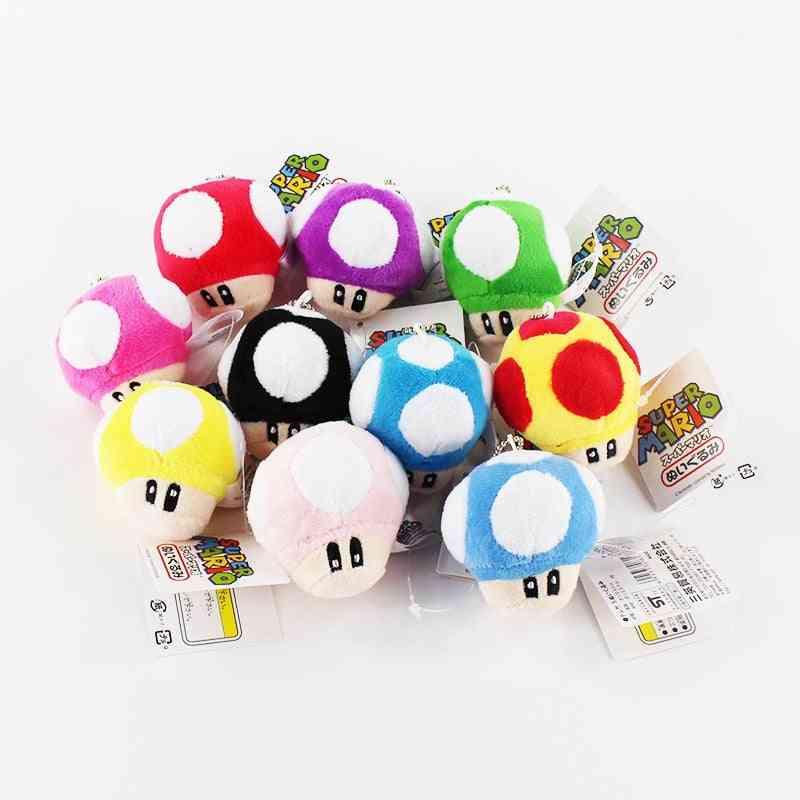 Super Mario Bros Mushroom Plush Keychain/pendant Toy