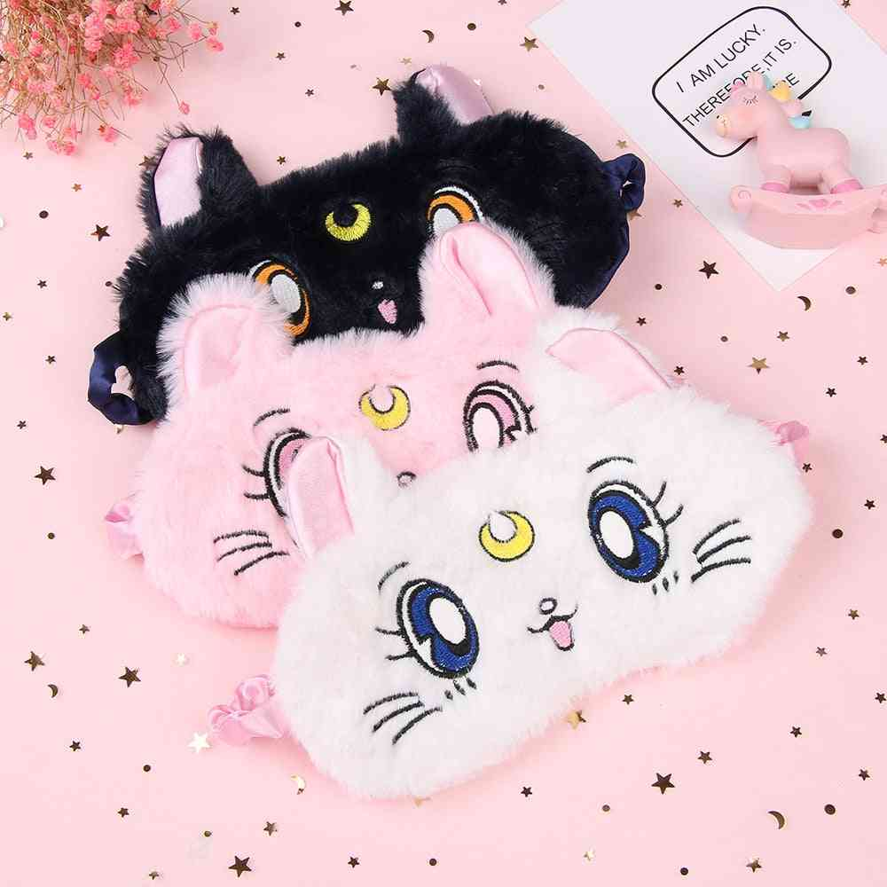 Cartoon Cute Eye Mask Blackout - Rest Sleep, Comfortable, Soft Padded, Shade Cover, Travel, Relax, Blindfold Nap Eye Patch