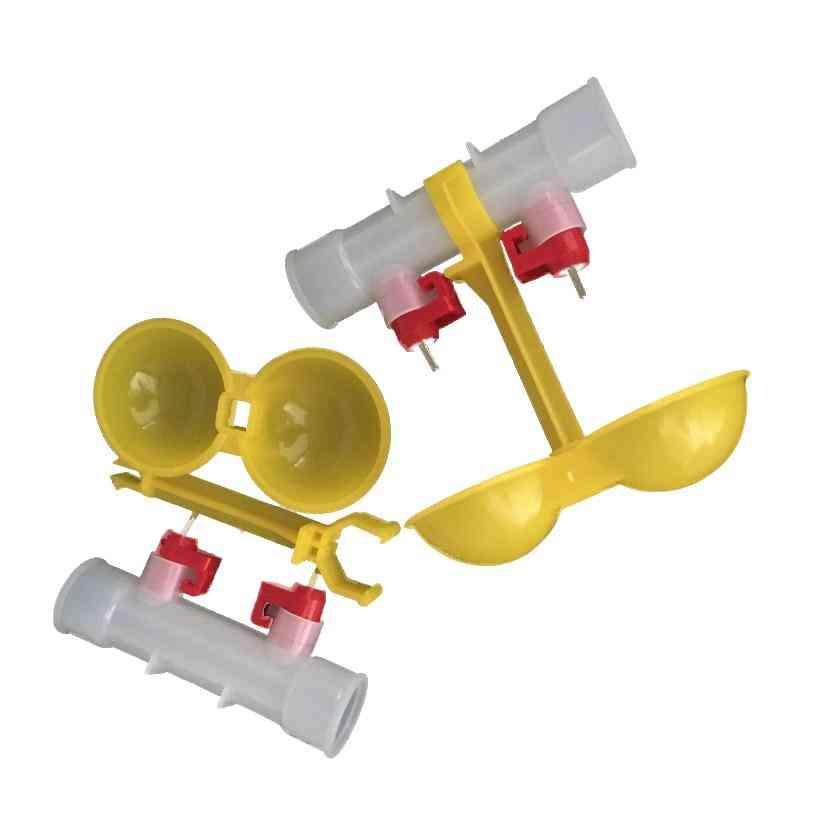 Chicken Water Double Nipple Drinker - Chicken Feeder Farming Equipment