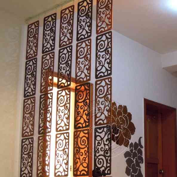 Hanging Screen Wood Partition Bedroom Wall Post Entry Living Room Home Decoration, Hanging Wood Partition