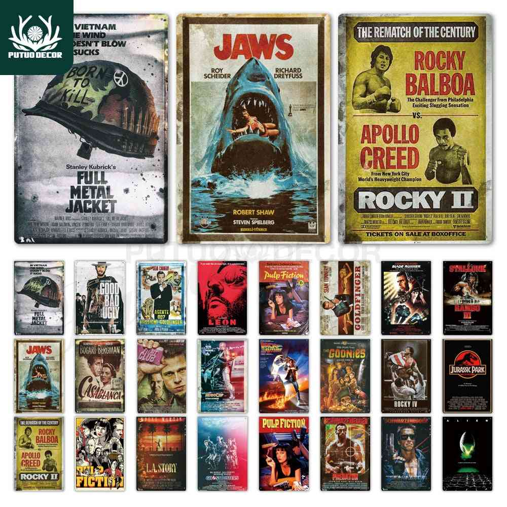 Classic Movie Metal Poster Tin Sign Plaque Metal Vintage Wall Decor For Bar Pub Club Man Cave Metal Signs
