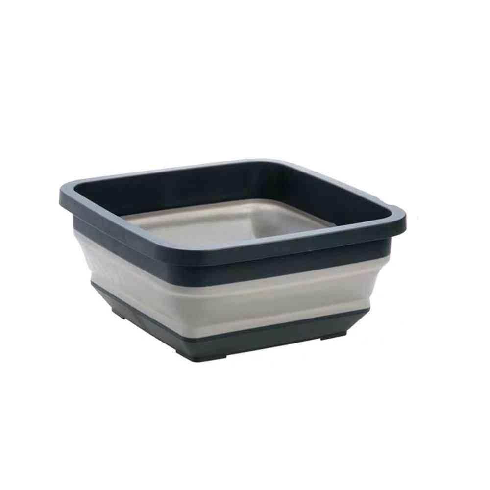 Portable Folding Washbasin - Telescopic Plastic Laundry Tub