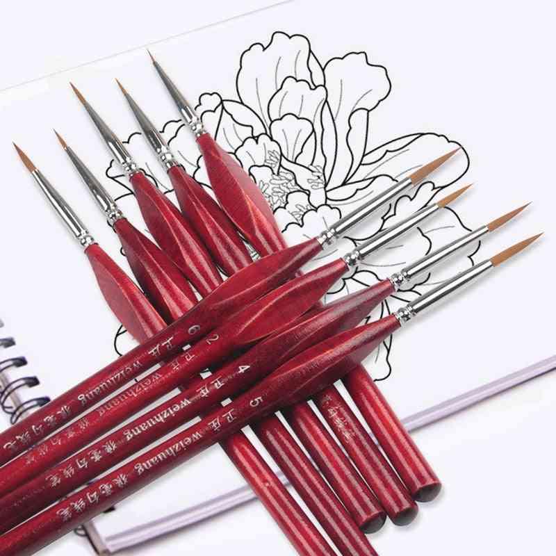 Extra Fine Detail Paint Brushes For Artist - Miniature Model, Maker Tool Set For Oil Painting