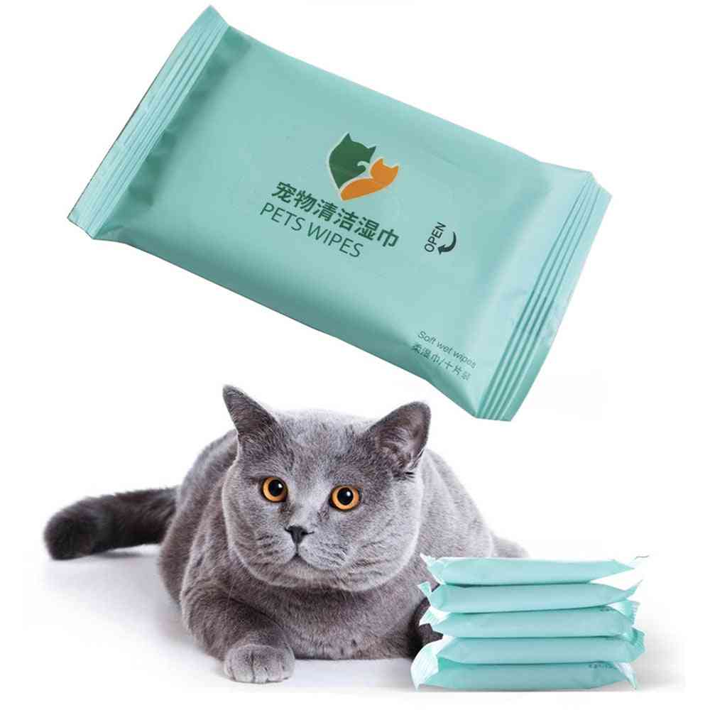 Pet Eyes Gentle Non-intivating Cleaning Wet Wipes - Dog Cleaning Paper Towels, Cat Tear Stain Remover