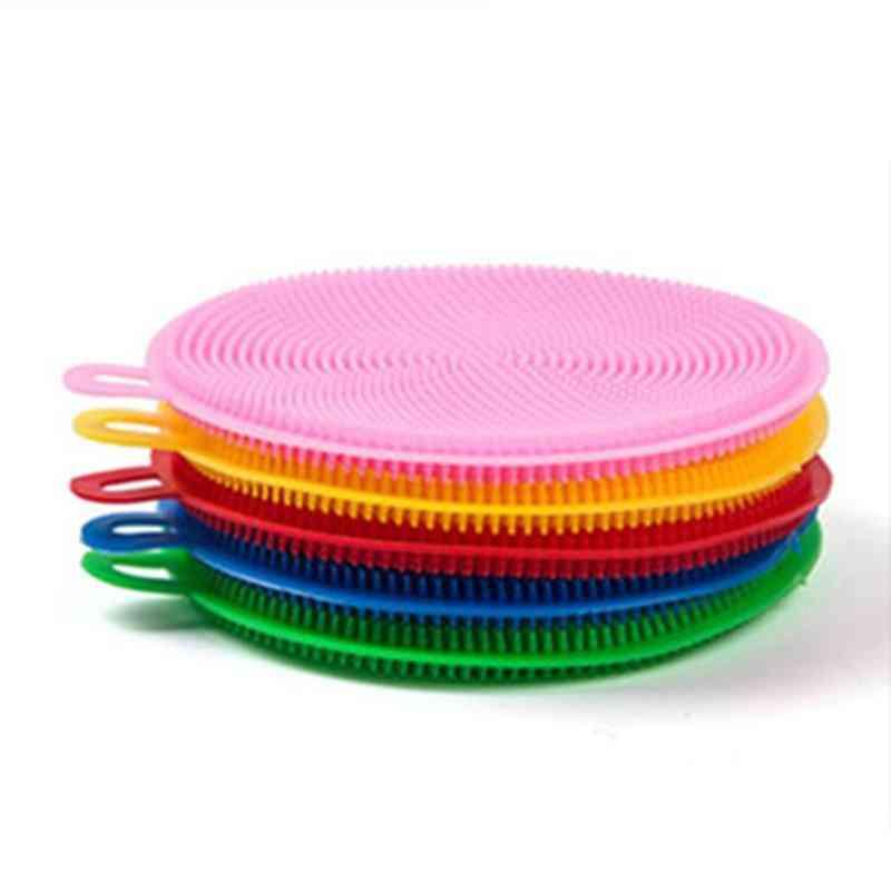 Flexible Silicone Dish Washing Sponge - Kitchen Cleaning Tool