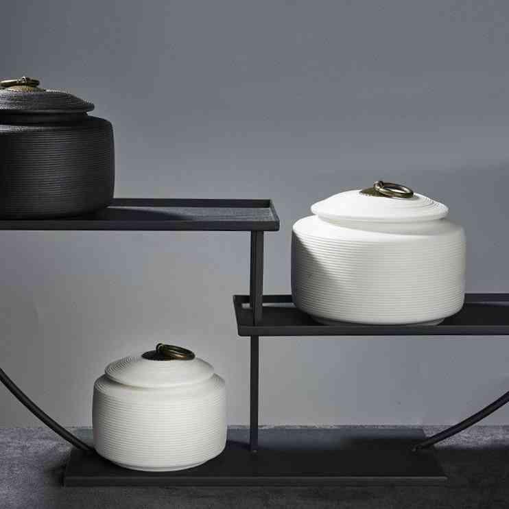 Ceramic Sealed Cremation Funeral Ashes Keepsake Memorial Urn