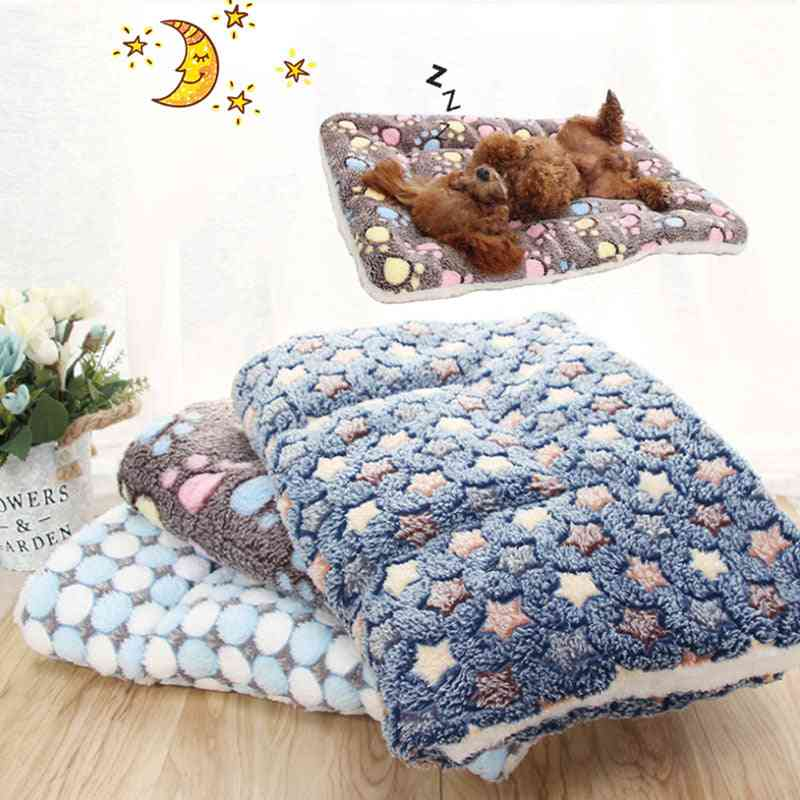 Soft Flannel Thickened Soft Fleece Pad Pet Blanket