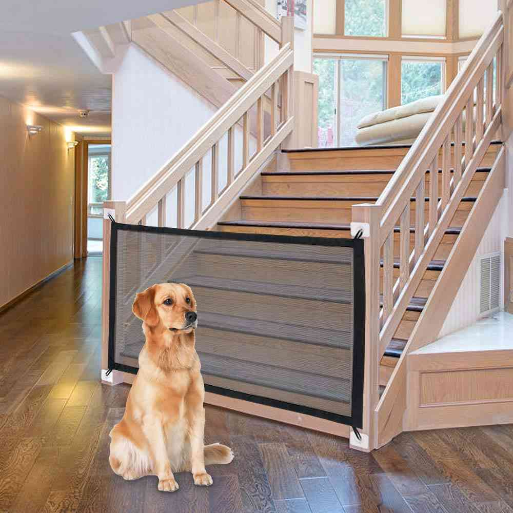 Dog Gate Ingenious Mesh Fence For Indoor And Outdoor Safe Gate Safety Enclosure Supplies, Dog Safety Net