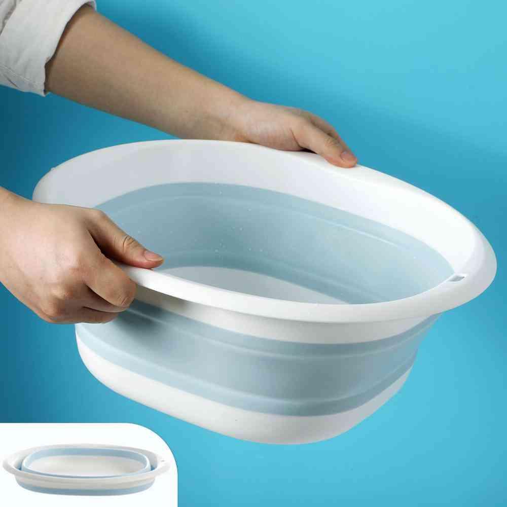 Portable Household Plastic Folding Wash Basins -laundry Tub