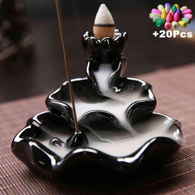 Creative Cones, Back Flow Stick, Incense Burner And Ceramic Censer For Decoration