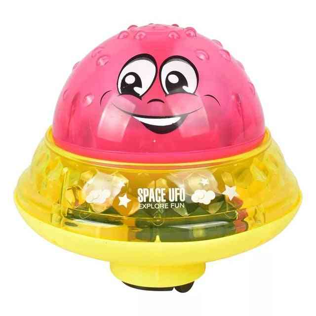 Baby Electric Induction Sprinkler Water Spray Play Ball With Light Music For