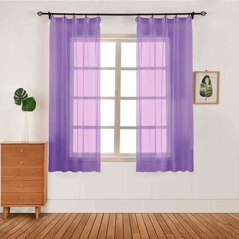 Lightweight, Washable And  Modern Tulle Curtains For Living Room, Window