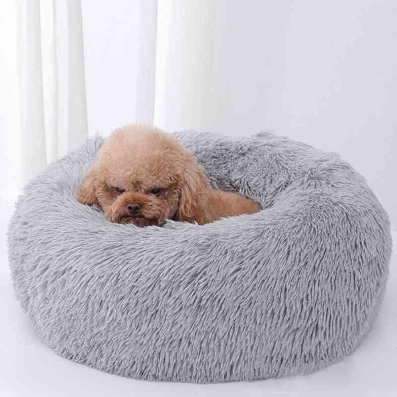 Sleep Luxury Soft Plush Dog Bed - Round Shape Sleeping Bag