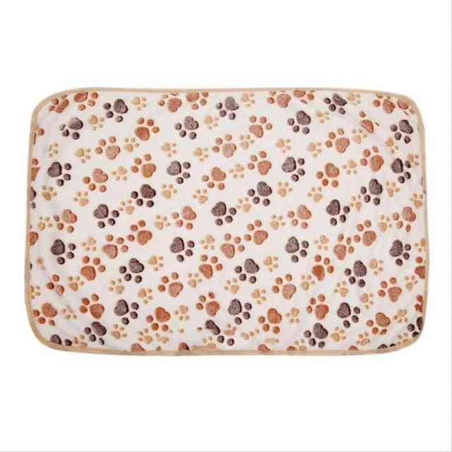 Foot Print Warm Pet Blanket - Sleeping Beds Cover For Dogs