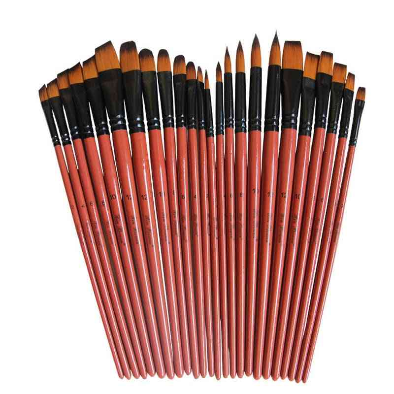 Water Colour Drawing Art Paint Brushes Set