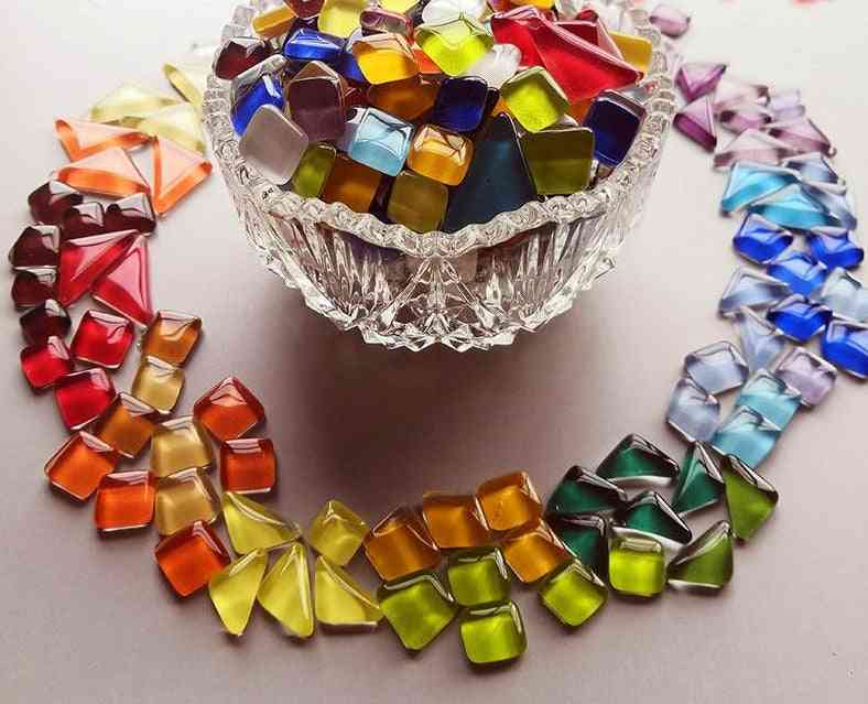 Colorful, Irregular Shape Crystal Mosaic Tiles-diy Art Craft Materials