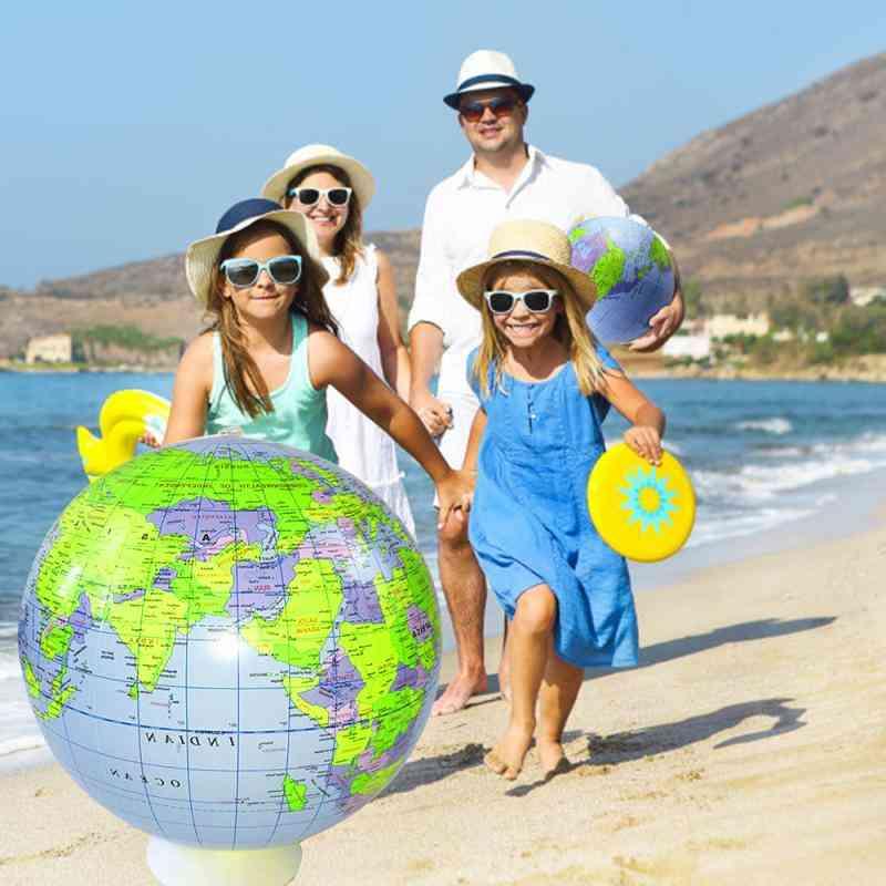 Inflatable World Globes Beach Ball- Pvc Earth Blow Up World Globe Beach Ball For Swimming Pool