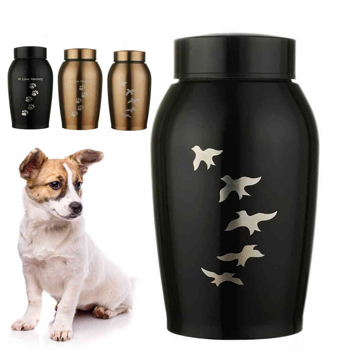 Stainless Steel, Cremation Ashes Urn-pets Memorials