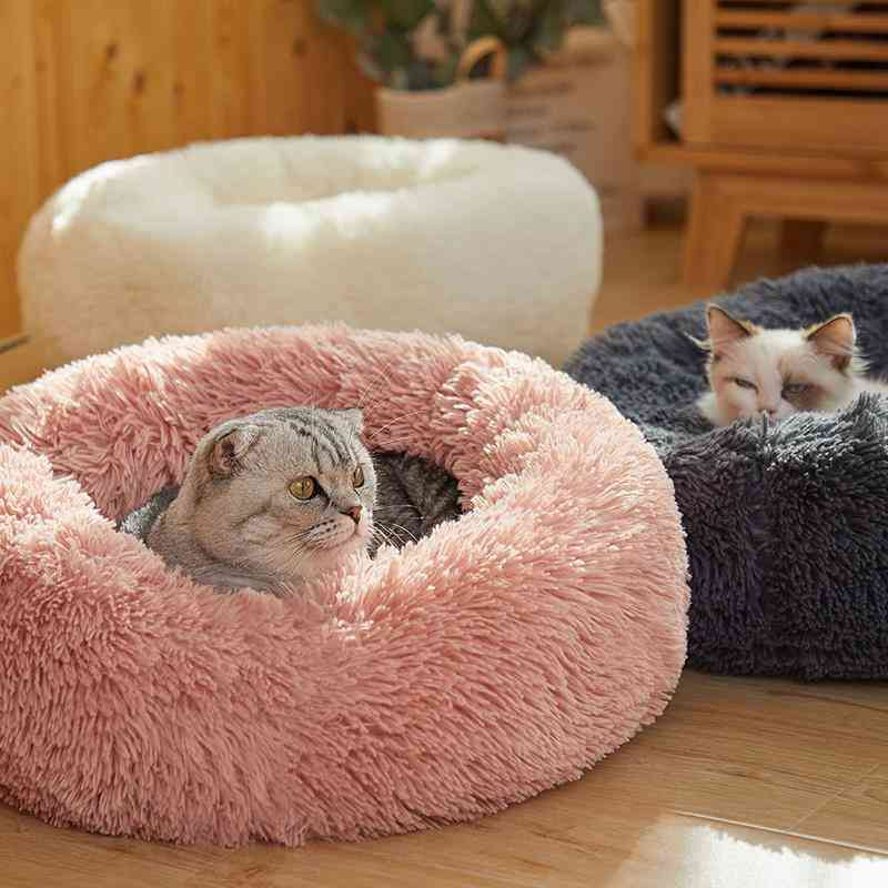 Comfortable Soft Washable Donut Cuddler Round Dog Bed, Cat Cushion
