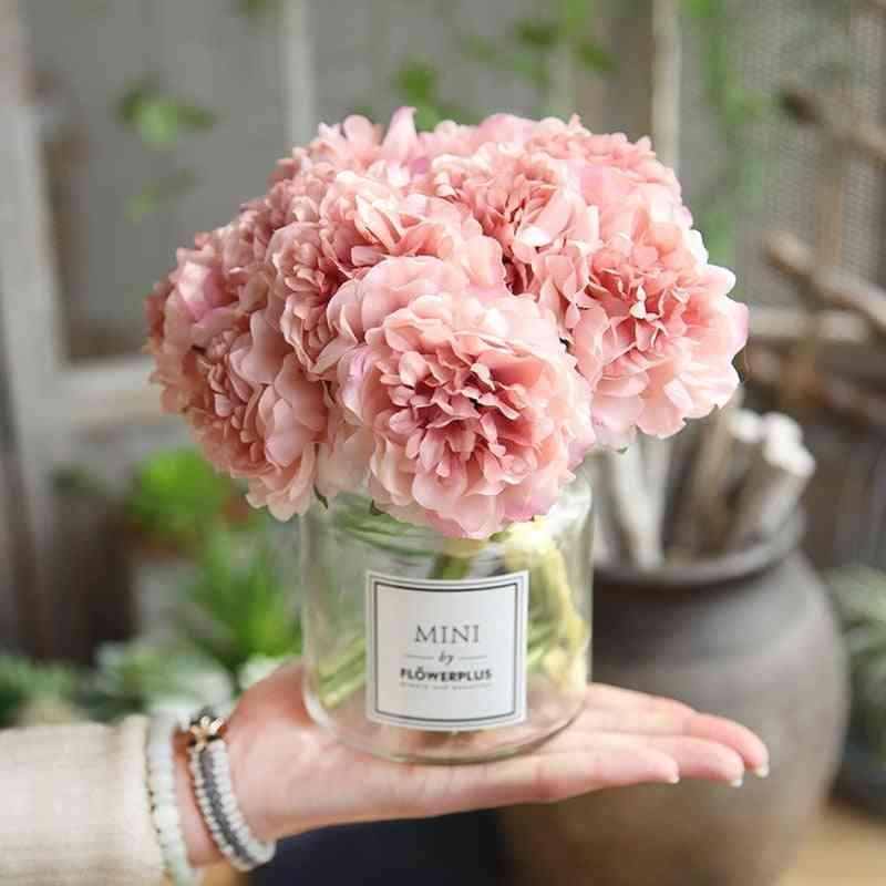 Hand Silk Blooming Silk Hydrangeas Artificial Wedding Home Decoration