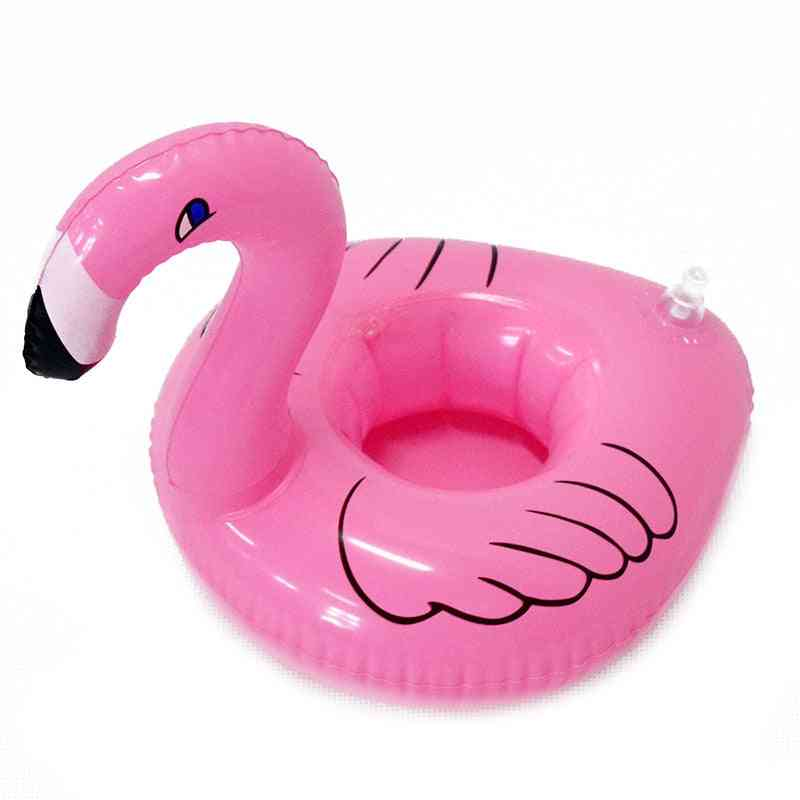 Inflatable Flamingo Cup Holder Swimming Pool Party, Drink Floats Coaster Pool Float Cup Seat Swimming's Toy