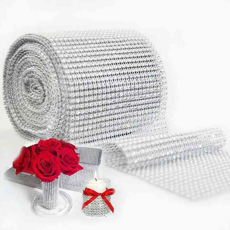 Bling Diamond Diy Mesh Roll For Party Birthday Wedding Decorations