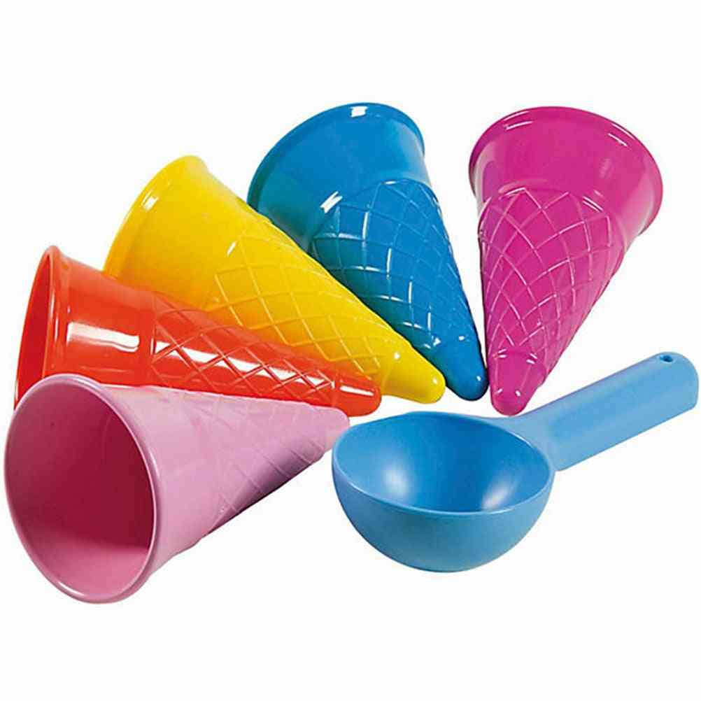 Ice Cream Cone And Scoop Sets-beach Sand Toy For