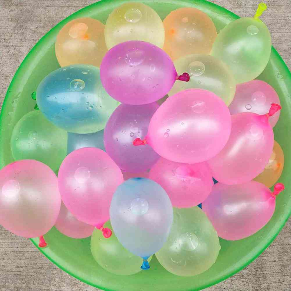 11111pcs Multicolor Latex Water Balloons With Refill - Water Bomb Ball Fight Games
