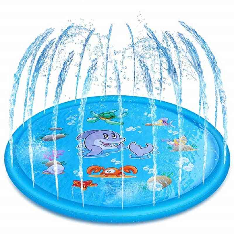 Outdoor, Lawn, Beach, Sea, Inflatable Water Sprinkler Play Mat Tub For Kids