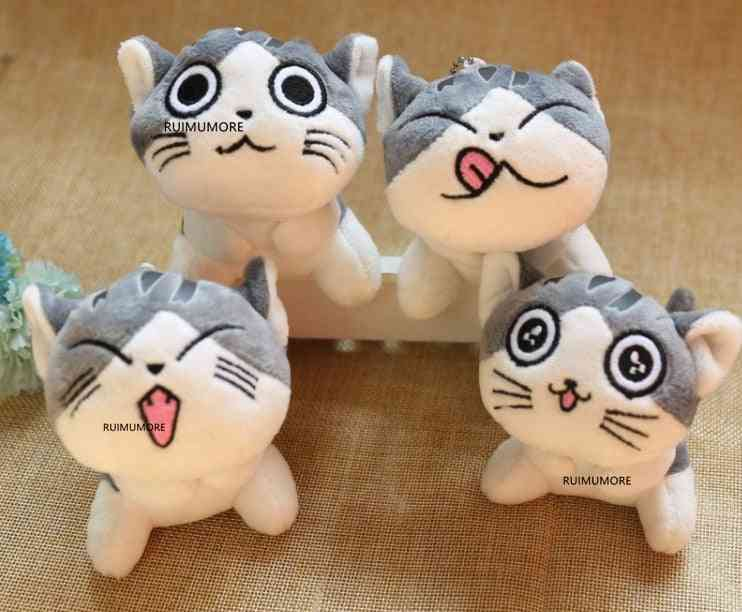 Cat Plush Stuffed Dolls, Keyring Chain Stuffed Animals