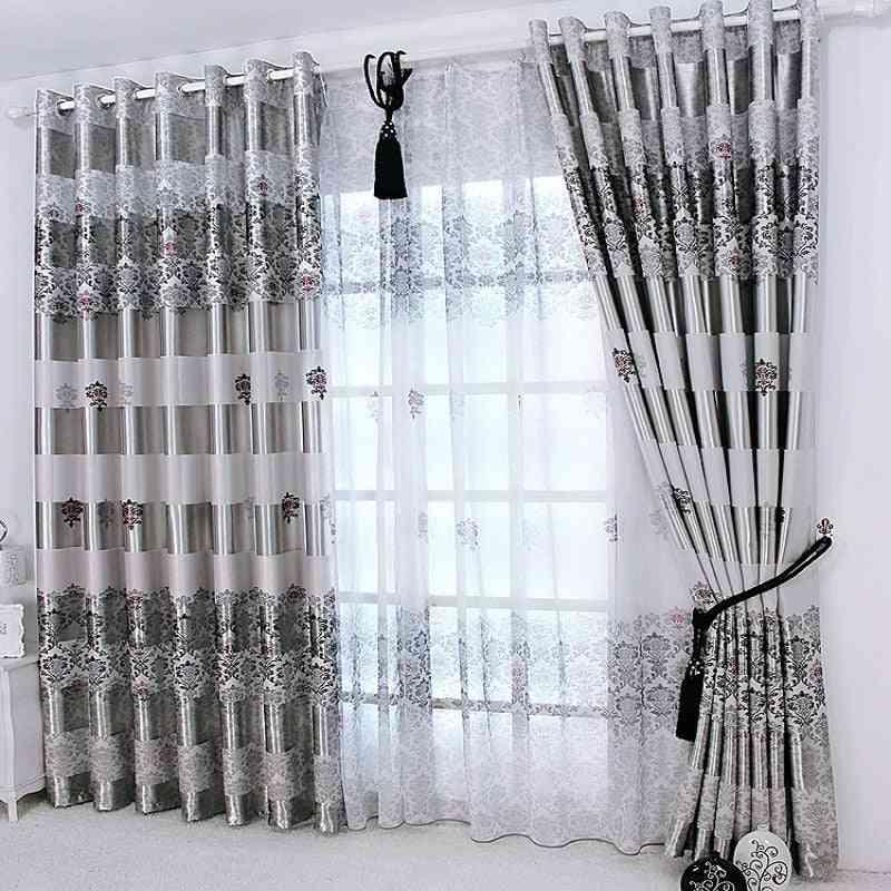 Modern Elegant Noble Printed Shade Windows  Curtain