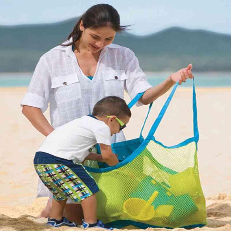 Portable Mesh Beach Storage Bags Baby Sand Away Carry Beach- Pouch Tote Kid Toy Net Bag Handbag Swimming Organizer