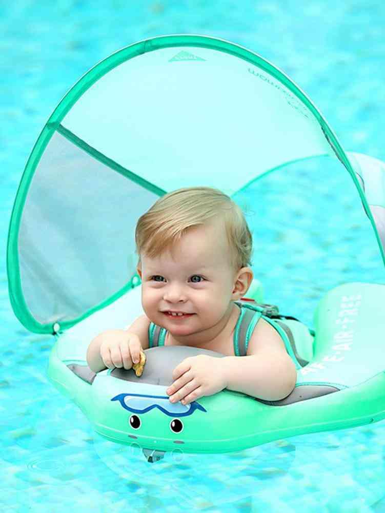 Baby Swim Float With Canopy Detachable Infant Swim Ringfor Kids Swim Trainer Relaxing