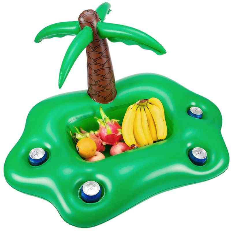 Summer Pool Inflatable Cup Holder Water Party- Ice Bar Swimming Pool Float Beer Beverage Cooler Pvc Inflatable Floating Bar Tra