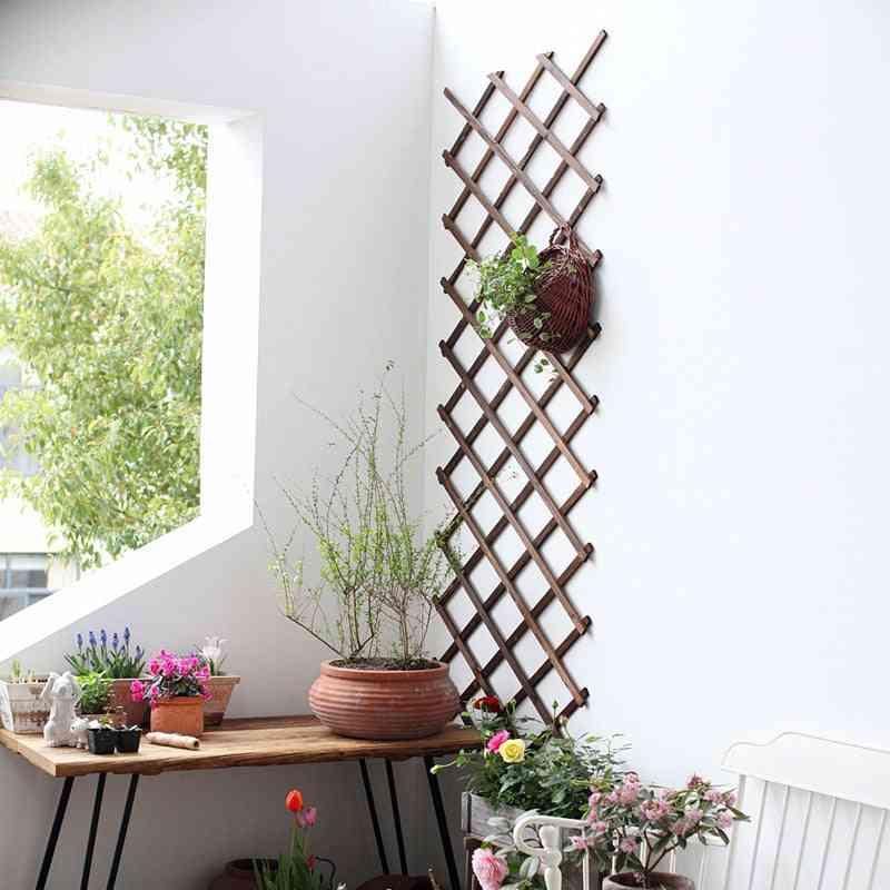 Expanding Wooden Garden Wall Fence - Panel Plant Climb Trellis Support