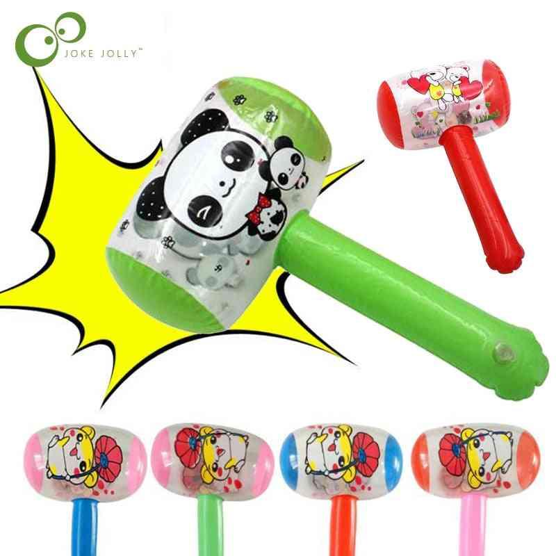 1pc Cheap Cartoon Inflatable Air Hammer With Bell Kids Blow Up (random)