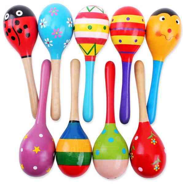 Wooden Sand Hammer-rattle Musical Instrument