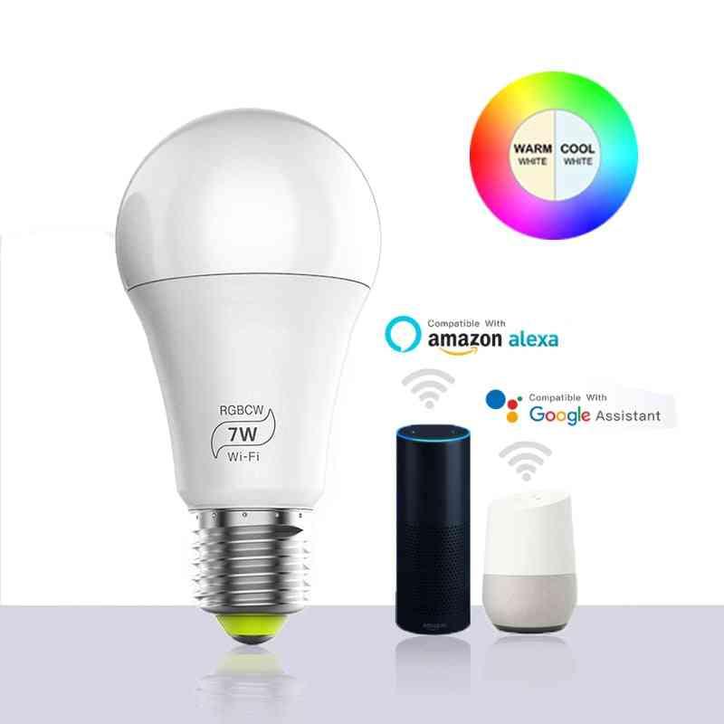 Magic Wifi Led Smart Bulb Light, Home Automation Lamp , 85-265v Bulb Compatible With Alexa Google
