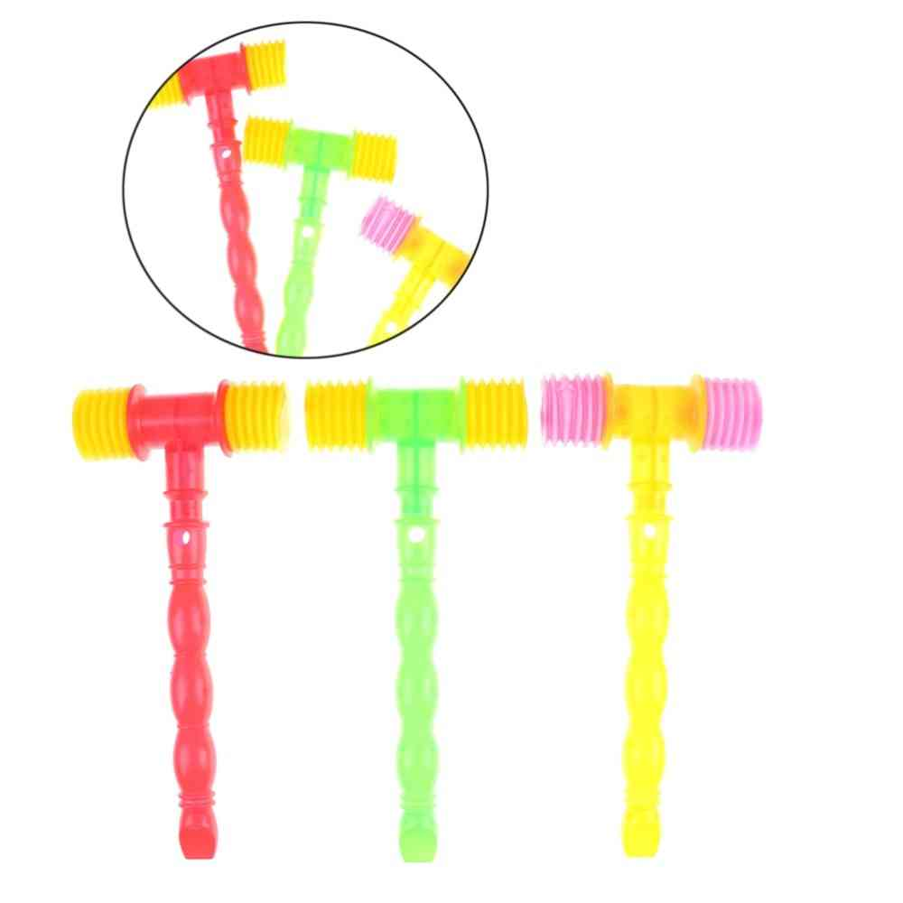 Handle Plastic Hammer Whistle Noise Maker For Baby Toy