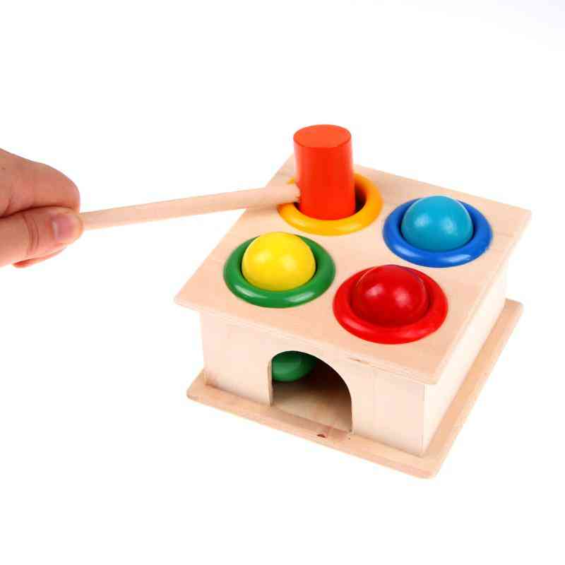 Children Fun Playing Wooden Hamster Game-early Learning Educational