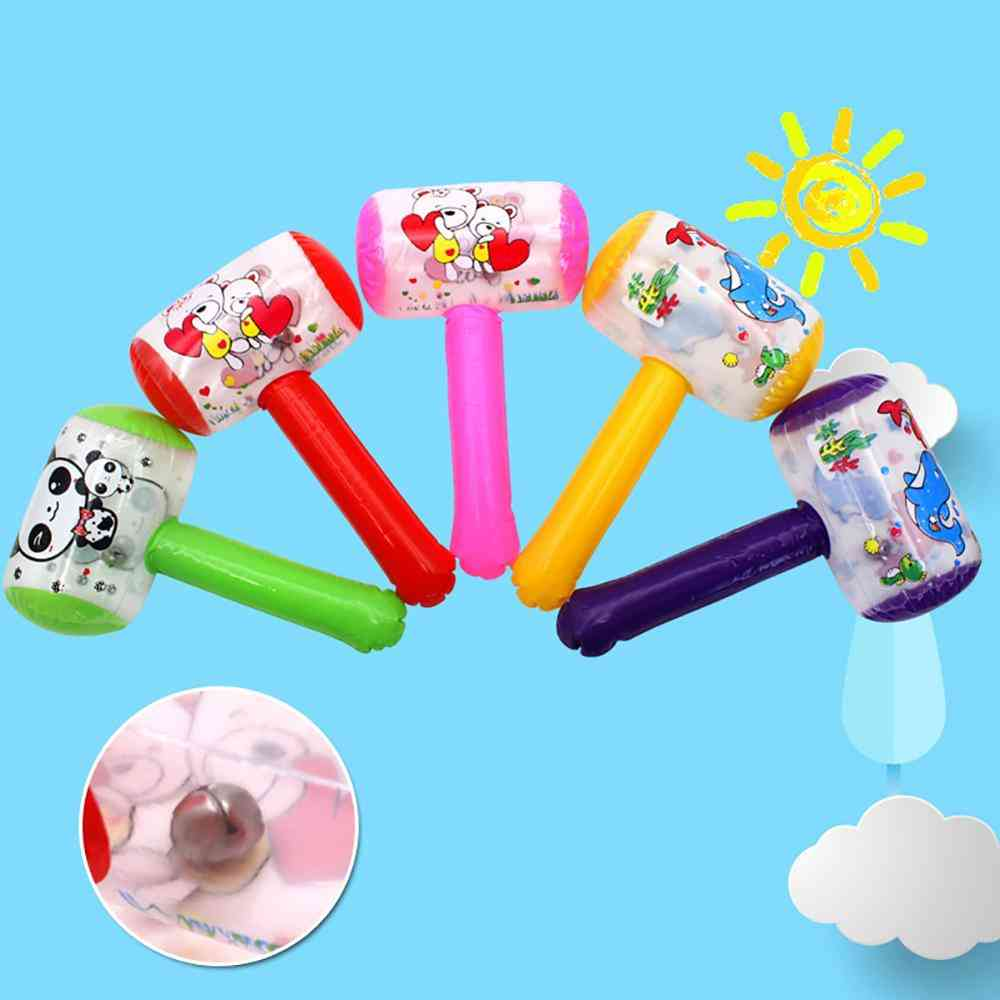 1pc Cute Cartoon Inflatable Air Hammer With Bell Kids Blow Up Noise Maker (random Style)