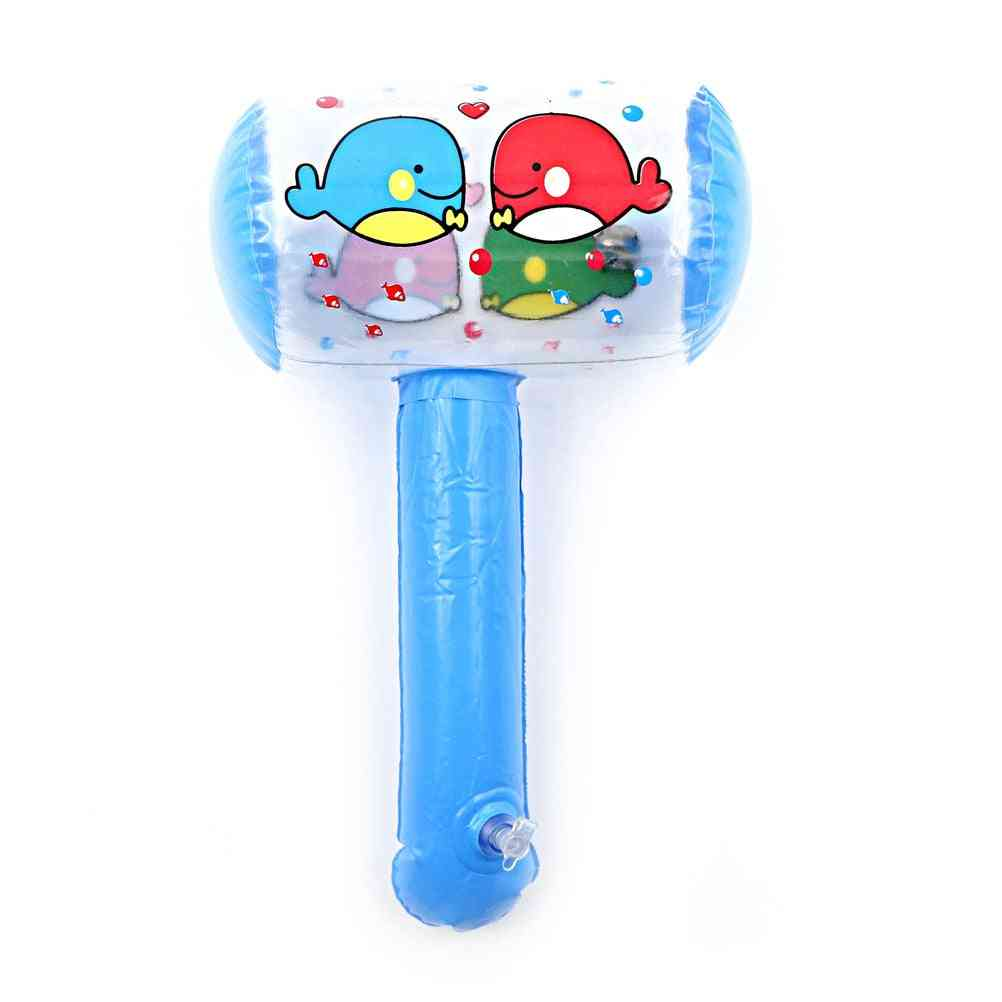 Cartoon Print Inflatable Air Hammer With Bell