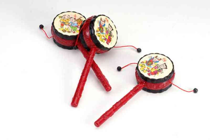 1pcs Rattled Drums Sets Baby Drum Hammer Rattle / Kids Voice For Fun China Tranditonal