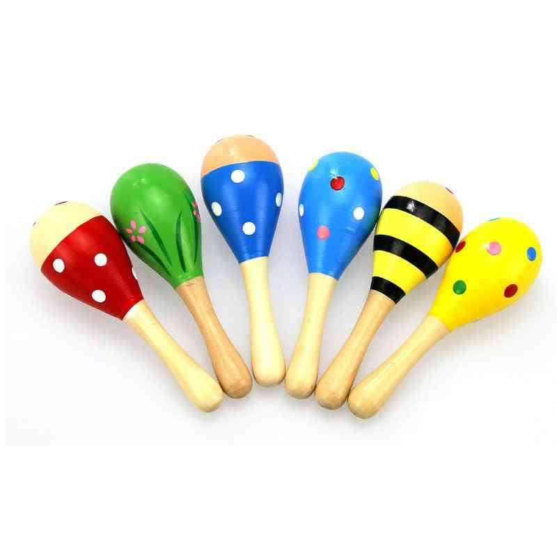 6 Colors 1pc Baby Rattle For Infant Educational- Colorful Sand Hammer Musical Instrument For And (random 1pc)