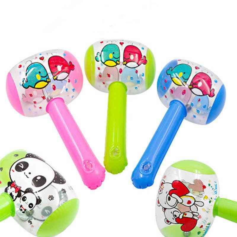 Cute Cartoon Inflatable Air Hammer With Bell - Baby Blow Up Noise Maker