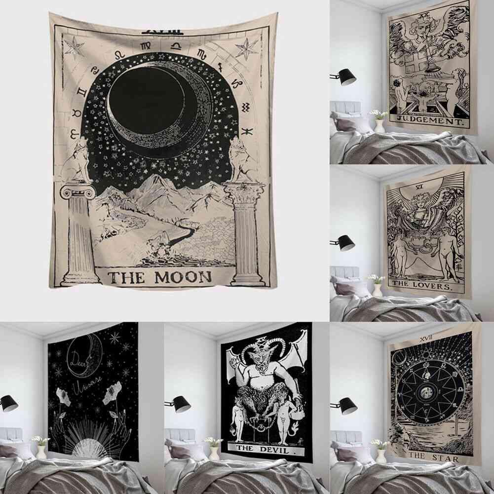 Tarot Card Tapestry Wall Hanging Astrology Divination Bedspread Beach Mat