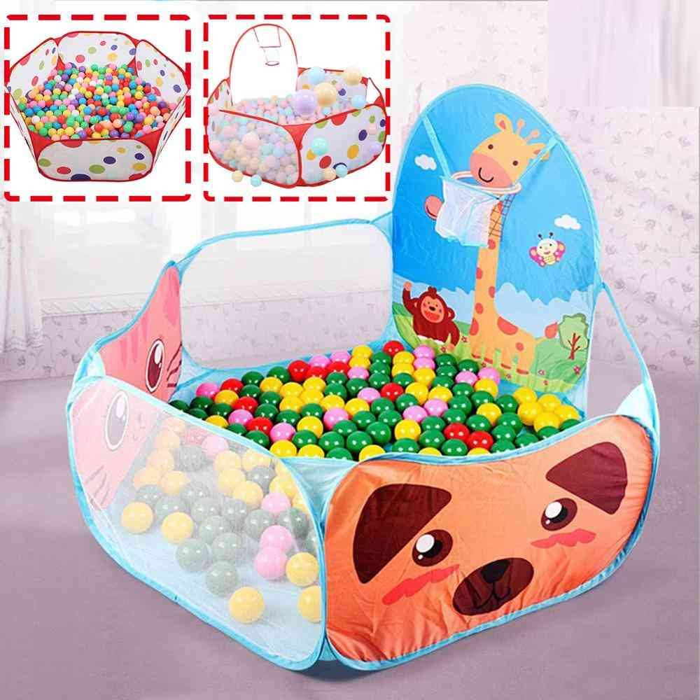 Foldable Cartoon Tent For Outdoor Sports - Kids Ocean Ball Pit Pool