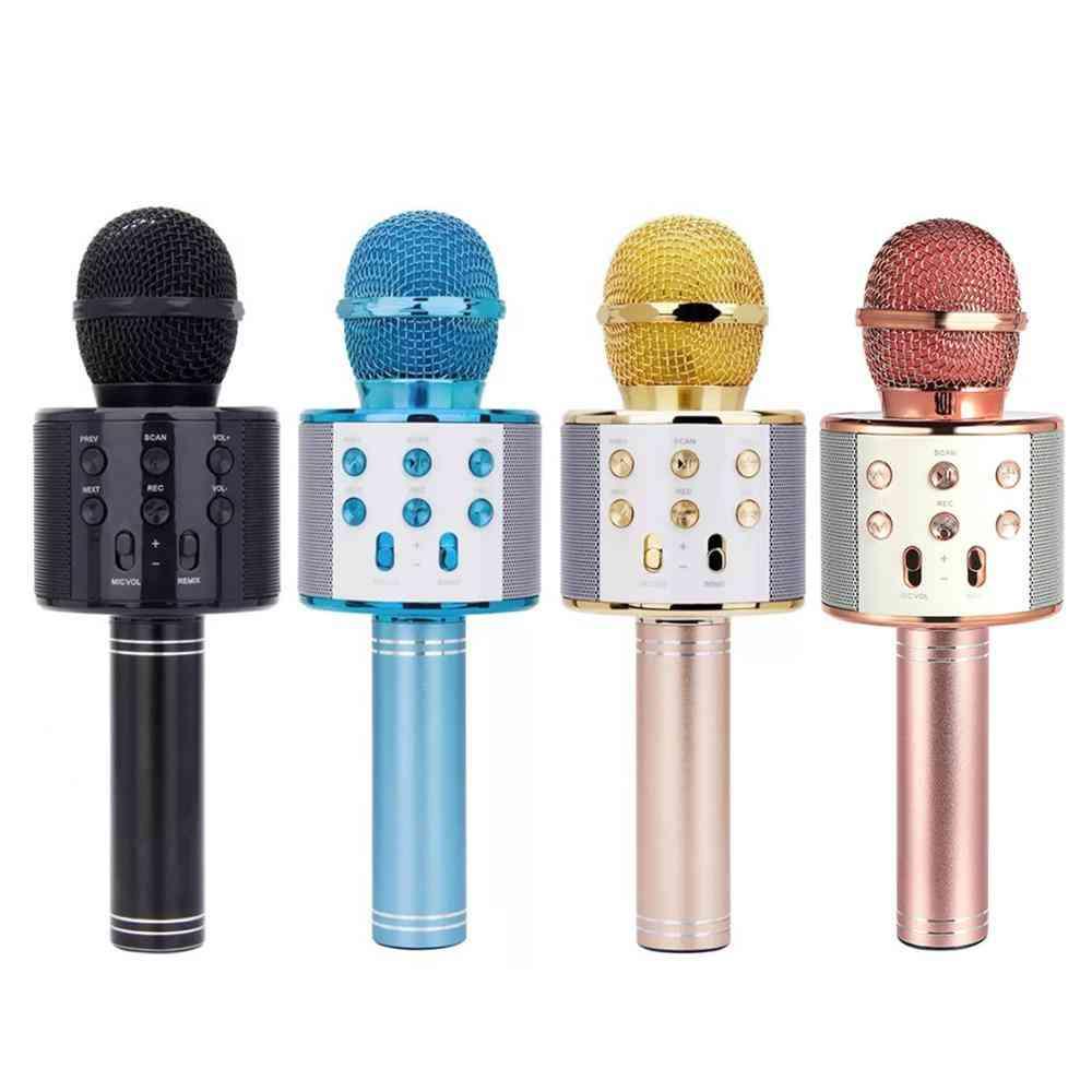 Wireless Bluetooth Karaoke Microphone - Handheld Mic For Kids, Christmas, Musical Stage