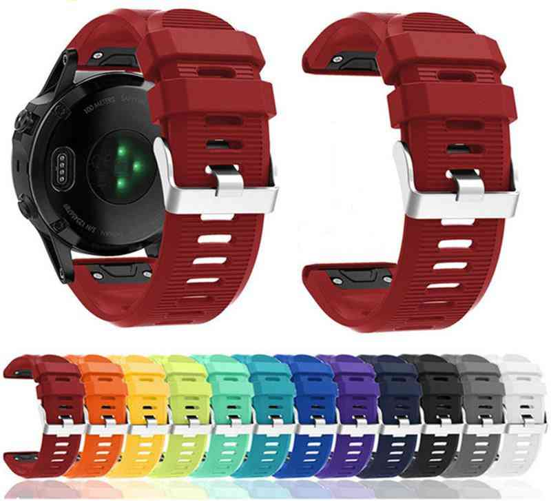 Watchband- Quick Release Silicone Strap And Easy Fit