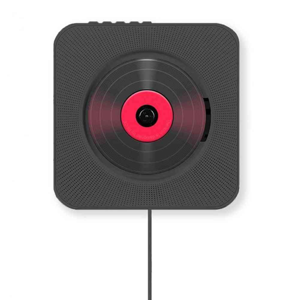Cd Player And Record Player - Wall Mountable Audio Box With Remote Control